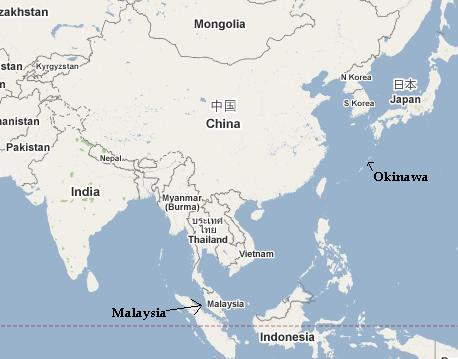 map of asian countries only. In the cluster of Asian