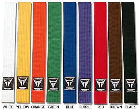 colored karate belts