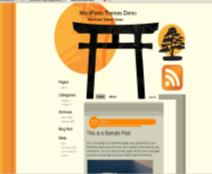 japan shrine blog theme