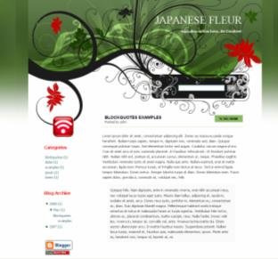 japanese fleur blog theme