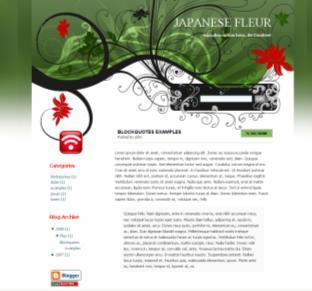 japanese fleur blog theme
