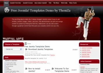 martial arts joomla website theme