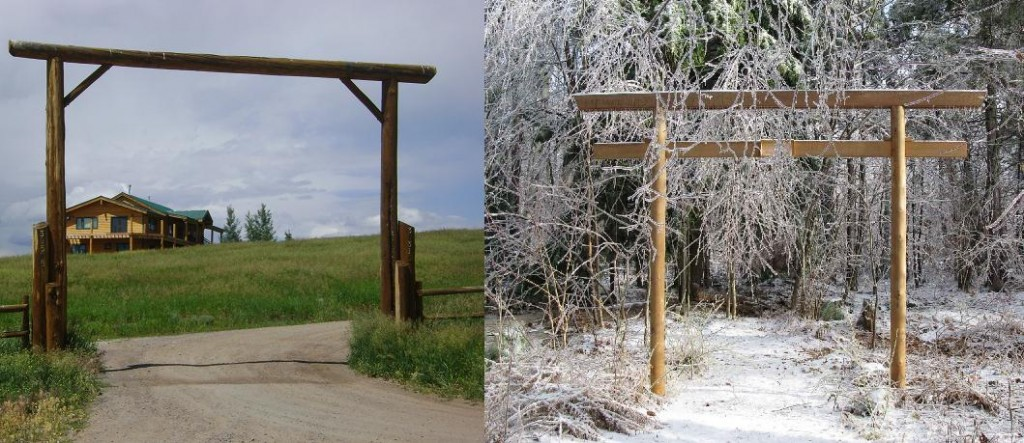 torii gate and ranch gate