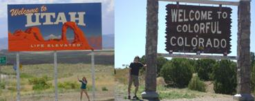utah and colorado state signs