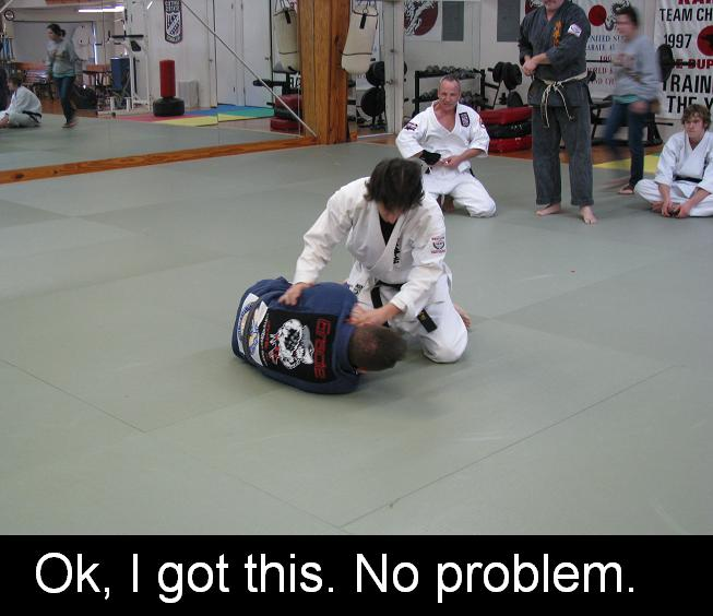 bjj and karate grappling