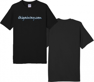 ikigaiway tshirt logofront