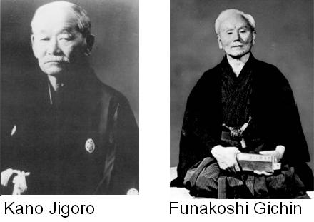kano jigoro and funakoshi gichin