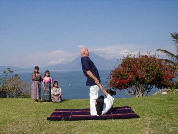 Thai Massage. Panajachel Guatemala, 2000