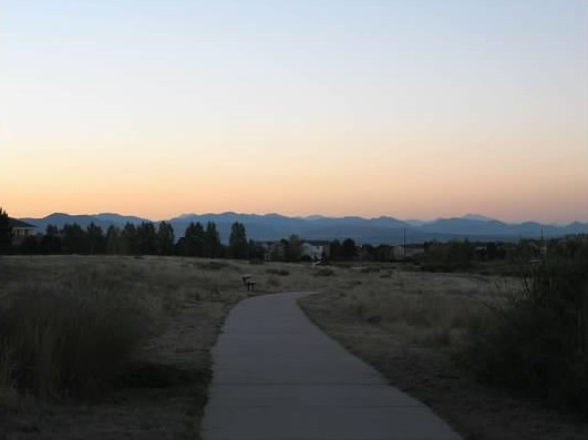 walk near front range mountains
