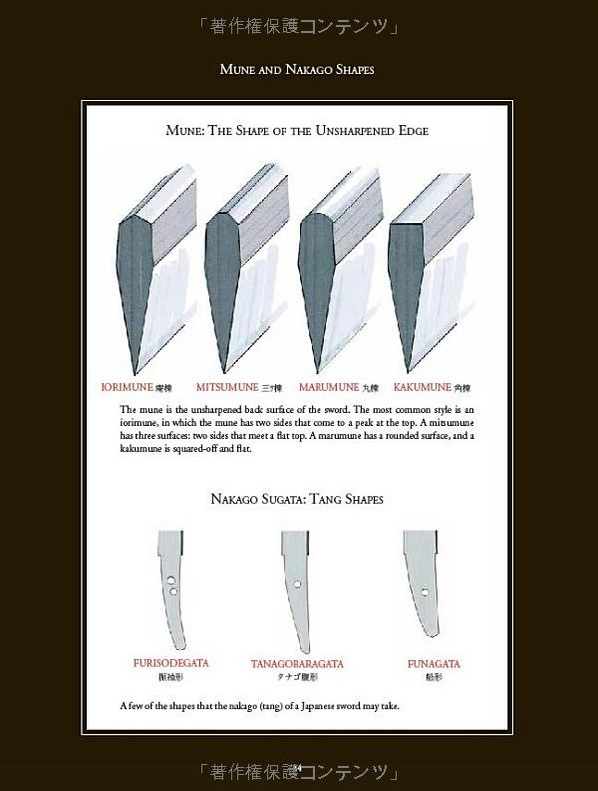types of japanese blades
