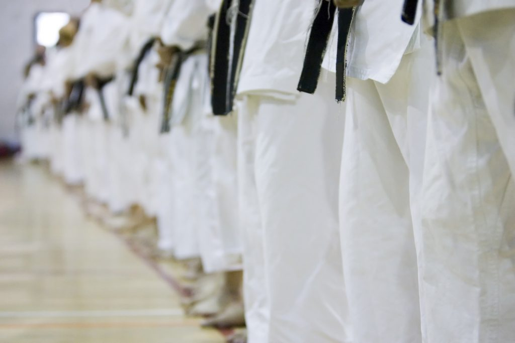 Row of black belts