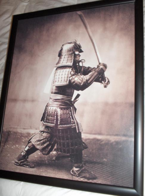 samurai print poster