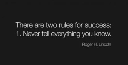 two rules to success