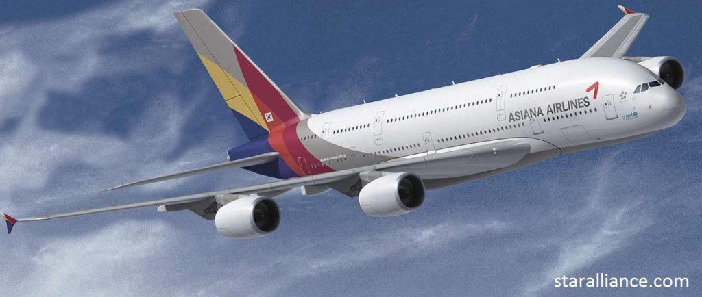 asiana airline to korea